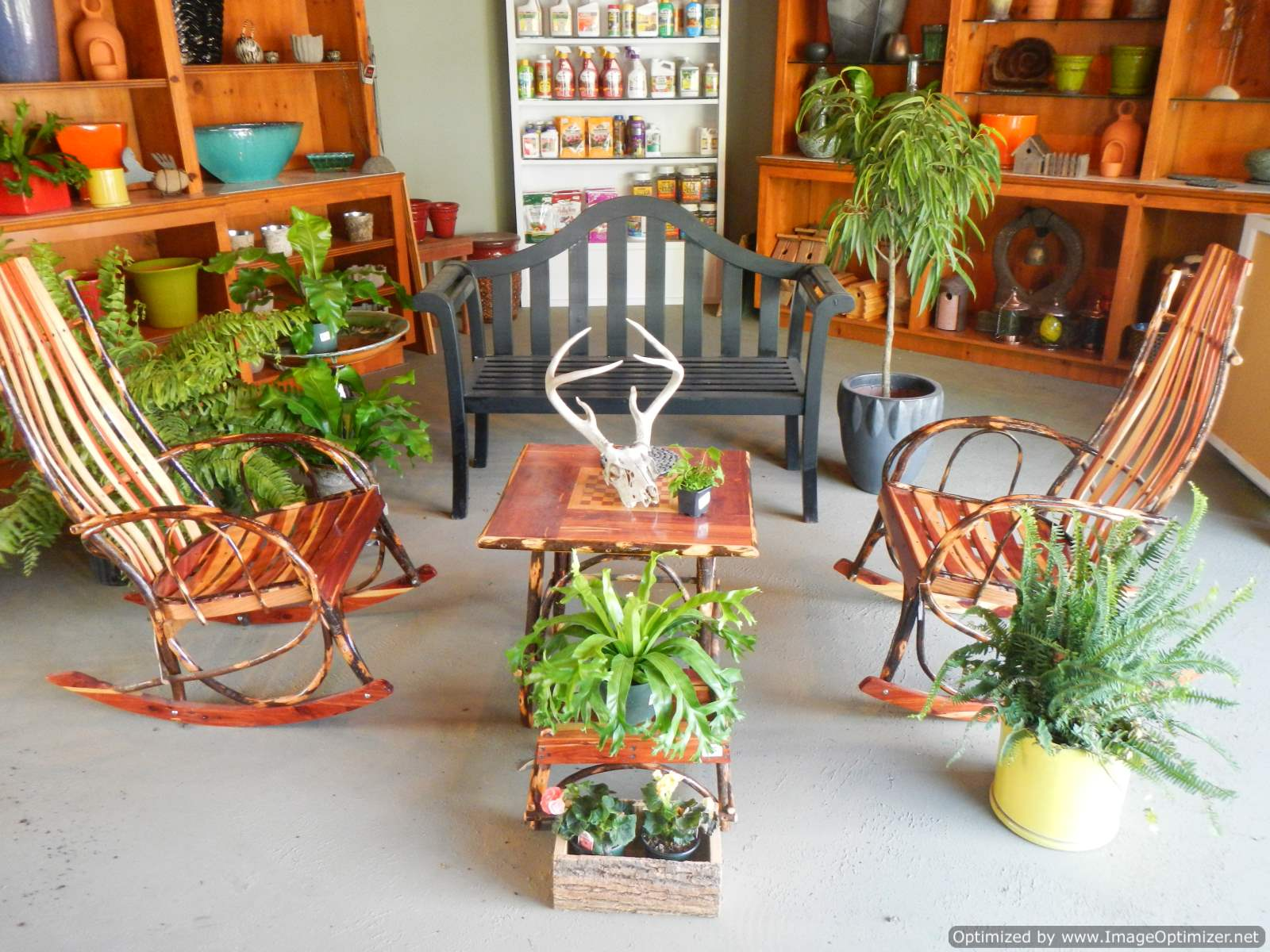 Outdoor benches lawn furniture rosehill gardens for Outdoor furniture kansas city