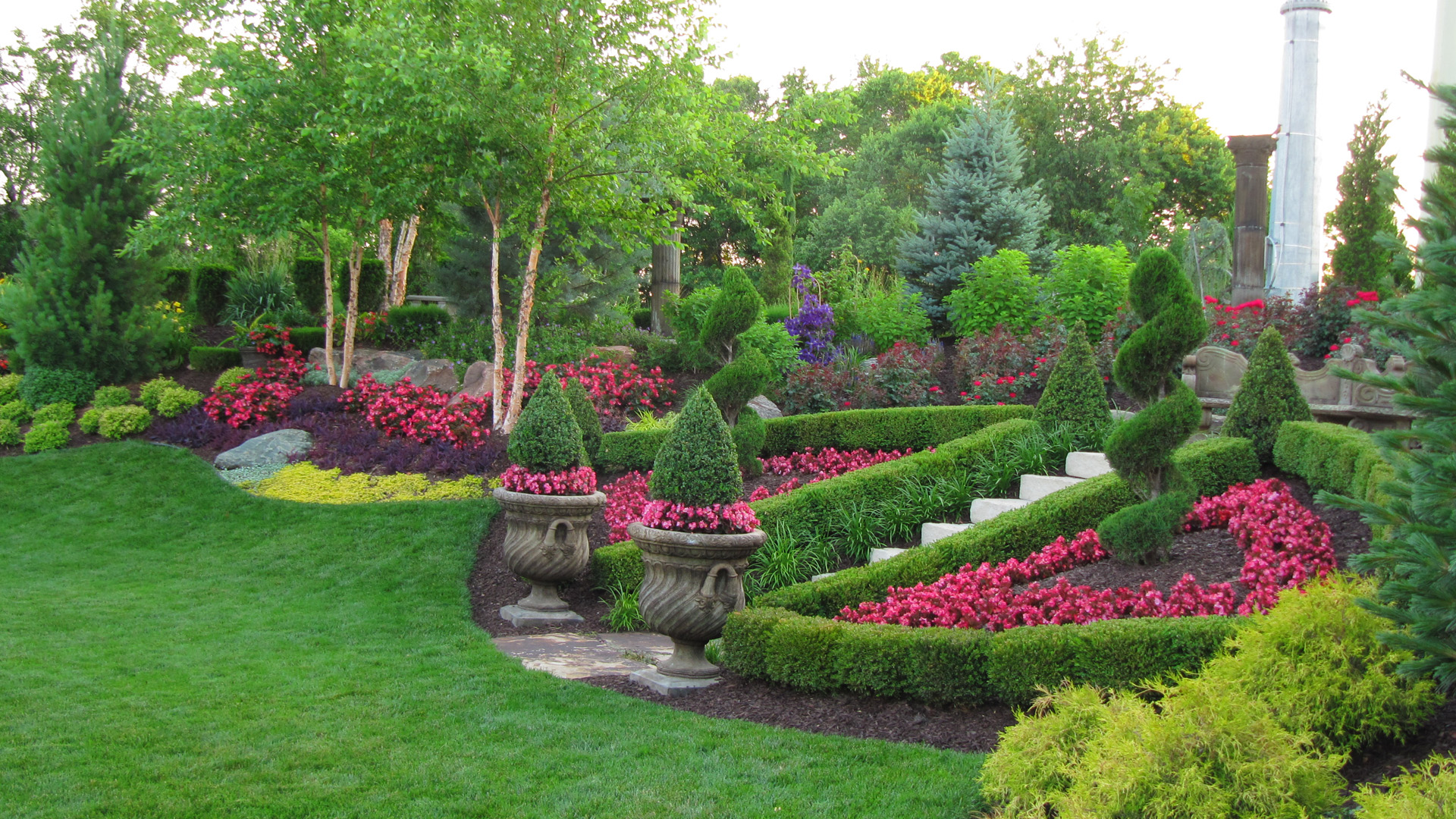 Professional commercial landscaping design in kansas city for Garden landscape pictures