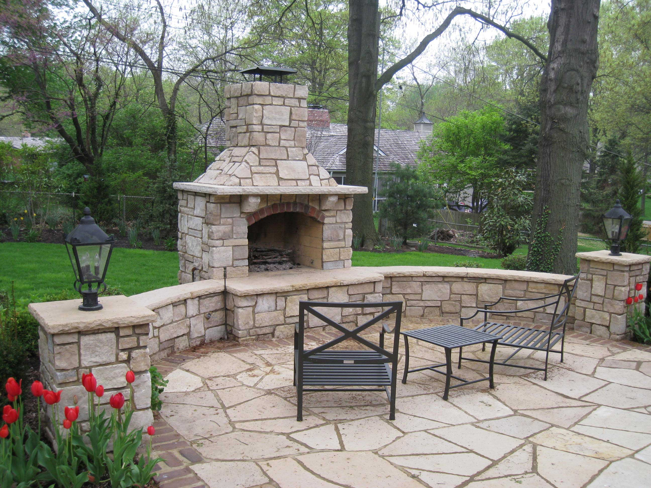 enhance your yard with a fire pit or fireplace in kansas city