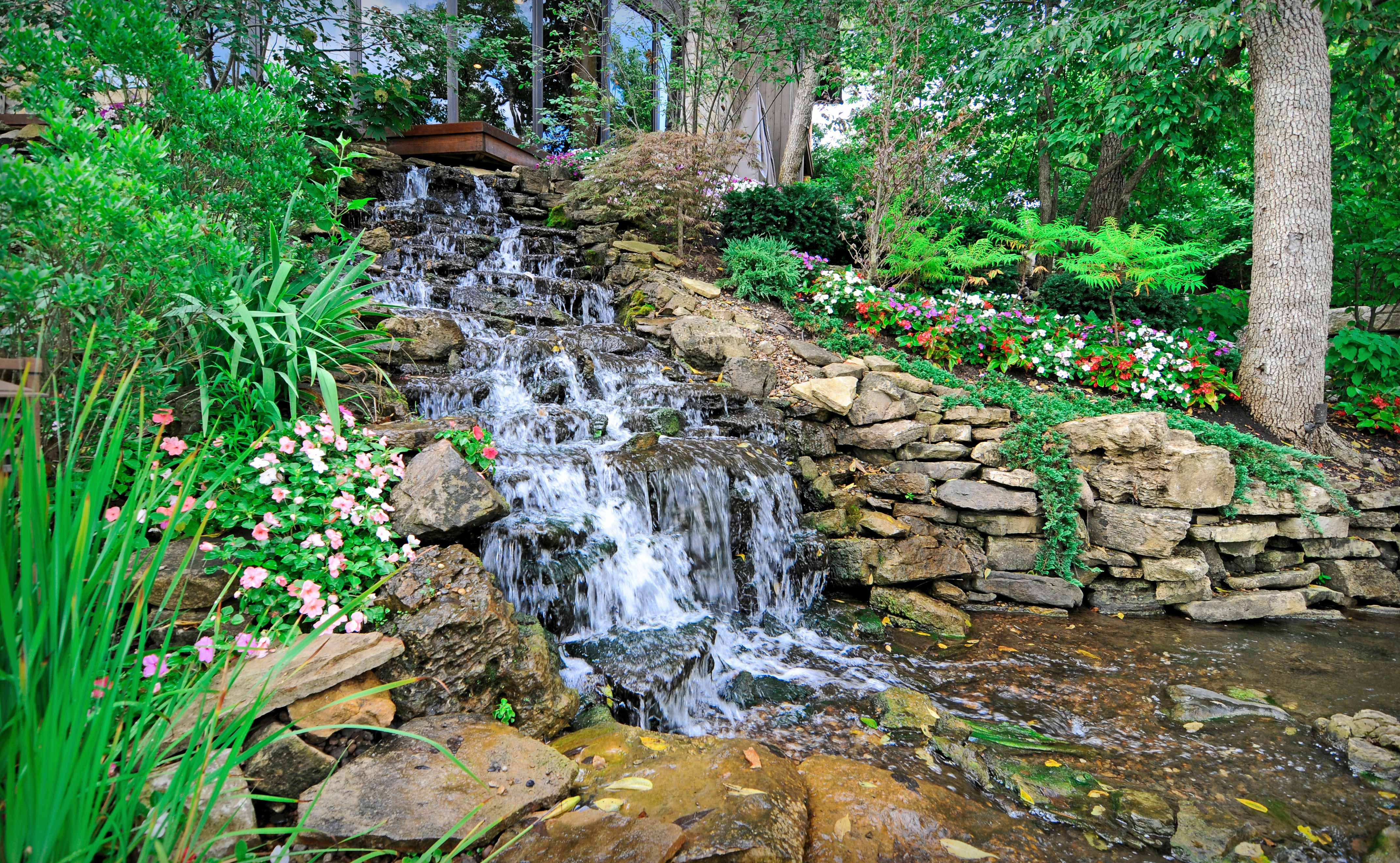 Water feature design installation in kansas city for Water features