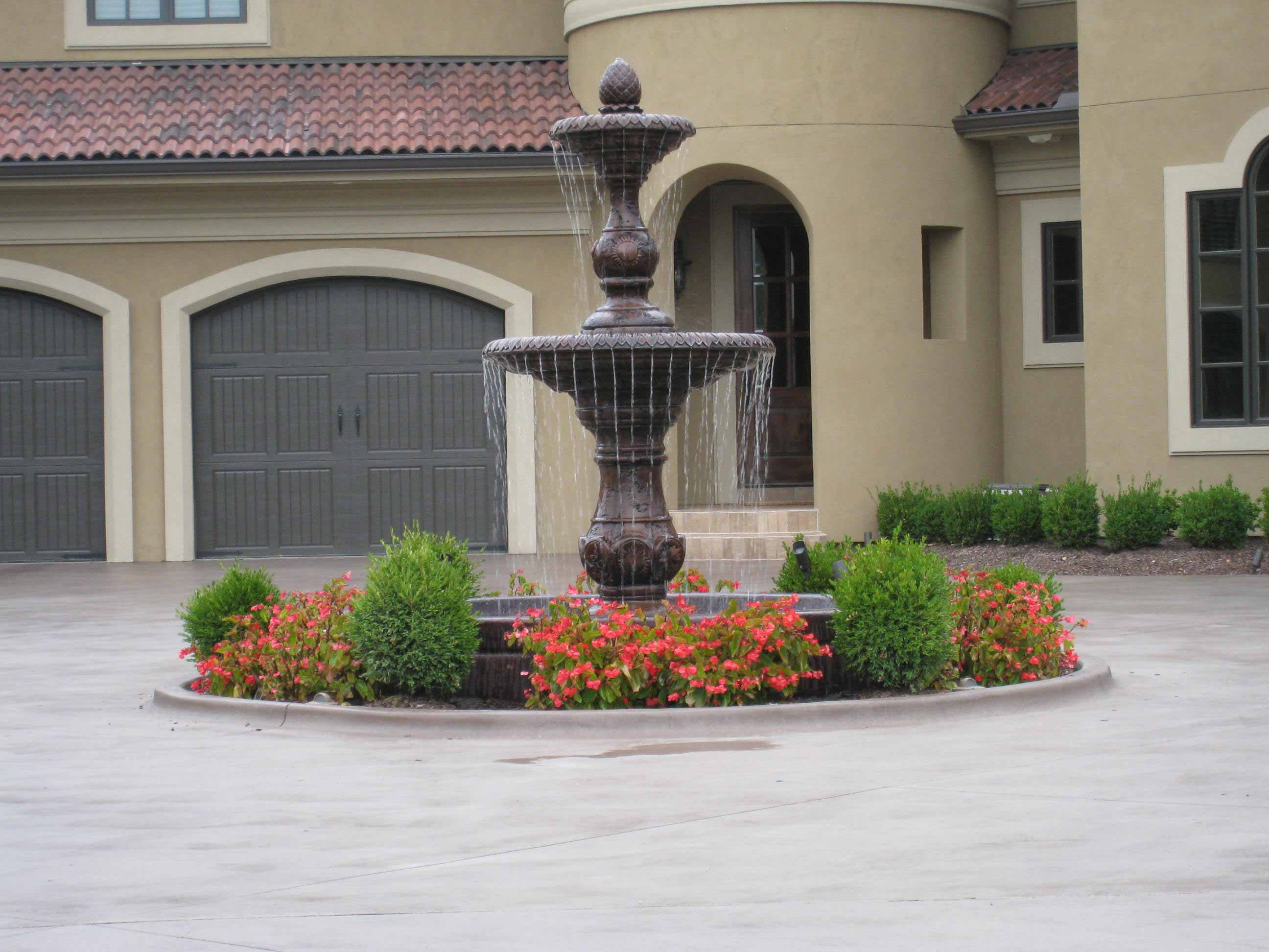 ... Beautiful Residential Kansas City Garden Fountain ...